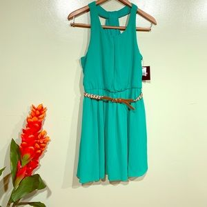 By a& By Never wore Green Sleeveless Dress